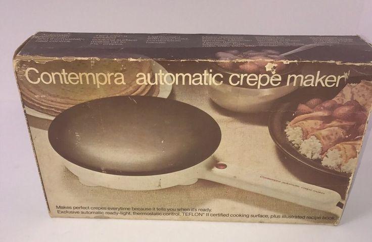 Vintage Contempra Automatic Crepe Maker Kitchen Electronic Appliance Model C100    eBay