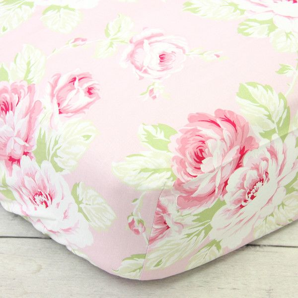 A beautiful vintage floral print fitted crib sheet. 52 x 28. Fits standard size crib mattress and toddler beds.