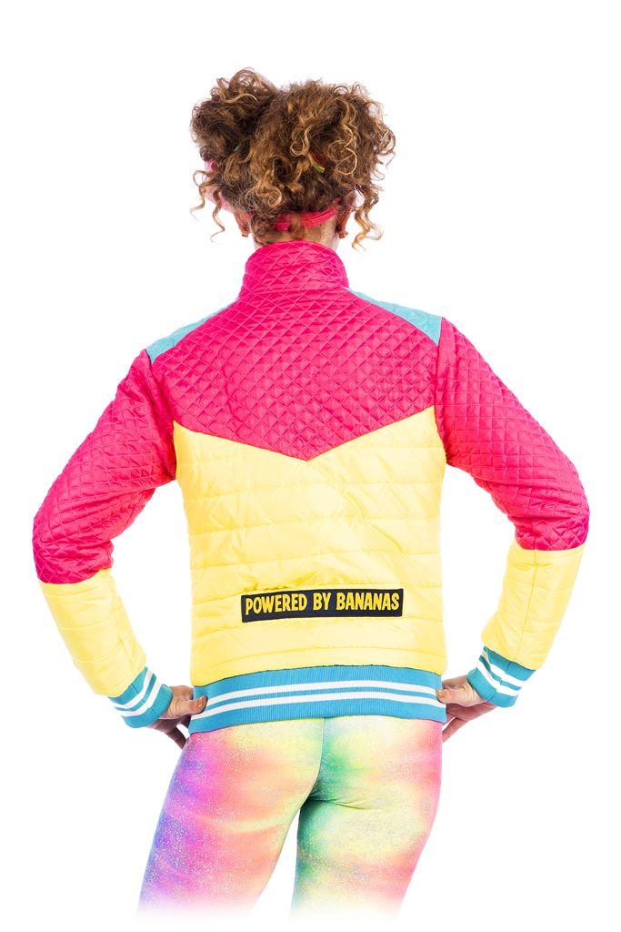 State of Disarray! Powered by Bananas' - Puffer Jacket  #stateofdisarray #recklessfashionrevolution #festivalfashion #festivaloutfit #streetstyle #fashiondesigner #summerstyle #ootd #skijacket #pufferjacket #glitter #summerski #fashionweek #ravewear #clubkid #edm #secretgardenparty #burningman #boomtown #coachella #glastonbury #ibiza #shambala #rainbow #bubblegum #candyfloss #80's #fancydress #dressup #costume #statementfashion #harajukufashion #kawaiifashion #kawaii #harajuku