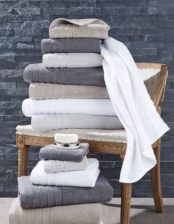 Rich, thick and absorbent, with a luxurious hand, the Ultimate Spa towel collection is an essential for the well-appointed bathroom. Super-soft Egyptian combed cotton delivers a spa-like experience every time you step out of the shower. Bath sheet, bath towel, hand towel and wash towel available in dark grey, light grey, taupe and white. Coordinating robe available in white.