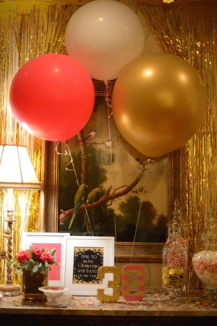 Pink Gold And Old 30th Birthday Party