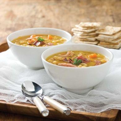 Soupe aux pois et jambon traditionnelle - Recettes - Cuisine et nutrition - Pratico Pratique