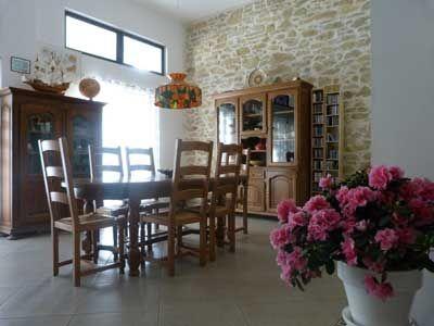 Salle à manger des chambres d'hôtes à vendre à Argeliers dans l'Aude