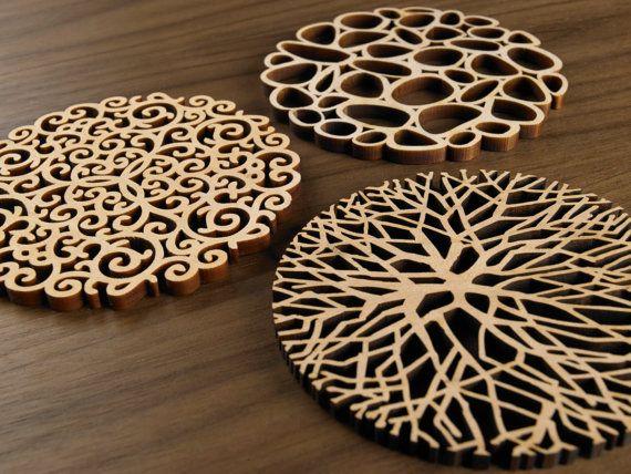 Gráfico posavasos de madera-la serie de compuestos orgánicos