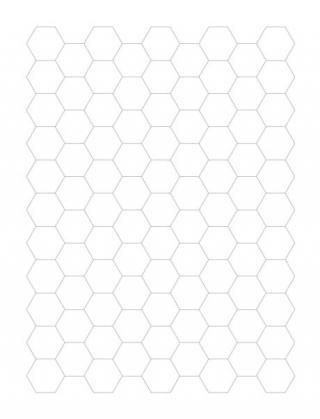 Grid Paper Hexagonal Grid
