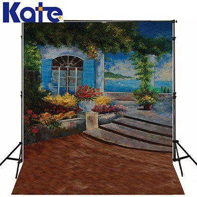 1.5*2M  canvas castle backgrounds printed backdrop vinyl backdrops wedding CM-S-1723-1