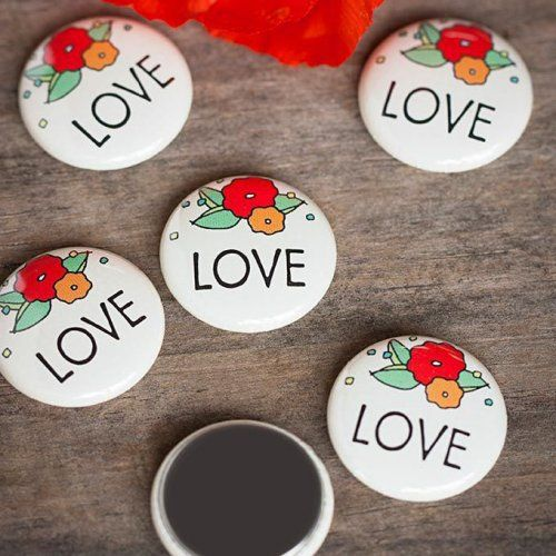 Personalized Button Magnets by Beau-coup