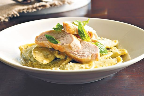 This creamy and delicious chicken pasta dish can be on the table in under half an hour.