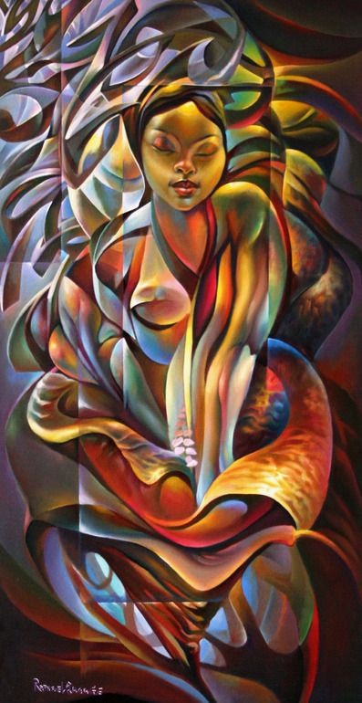 "Saatchi Online Artist: Raphael Sagage; Acrylic, 2007, Painting """"Born Again"""""