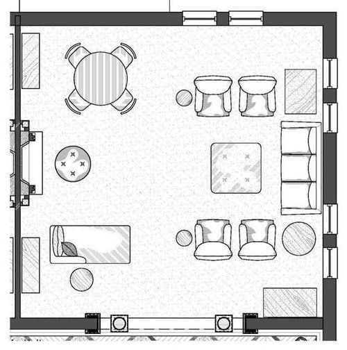 1000 images about space planning on pinterest window for Living room floor plan