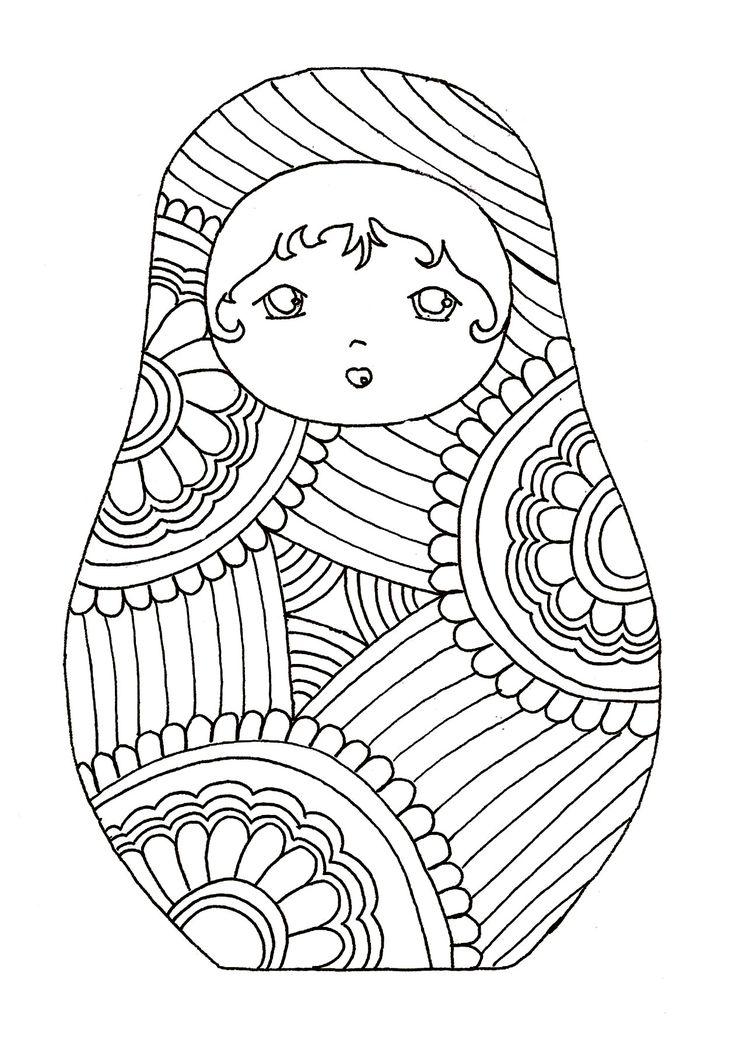 Galerie de coloriages gratuits coloriage-pourpee-russe-9.