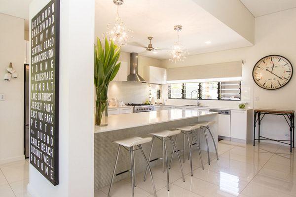 20 Lovely Porcelain Tile Kitchen Floors | Home Design Lover