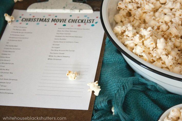 Cozy Movie Night + Christmas Movie List Printable