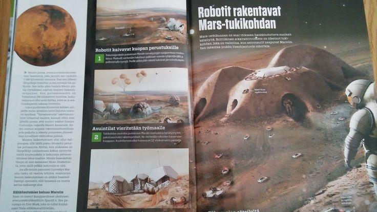 Robotit rakentavat Mars tukikohdan