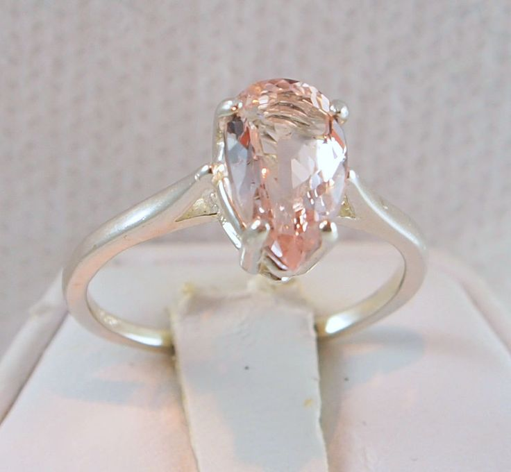my favorite non-diamond engagement stone is morganite. 1.42 carat stone. beautiful and affordable