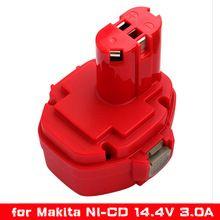 14.4V 3000mAh Ni-CD Power Tools Rechargeable Battery Pack for Makita Cordless Drill PA14 1433 JR140D 1420