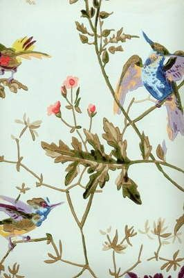 this makes me rethink the whole wall paper hate thing-  LOVE THIS Cole and Sons Bird Wallpaper -