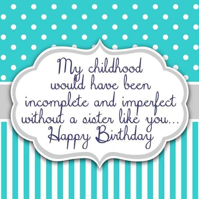 Best 25+ Sister Birthday Quotes Ideas On Pinterest