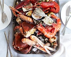 Recipes for two people: Rick Stein's seafood platter doesn't take long to prepare but is a showstopper of a dish for special occasions