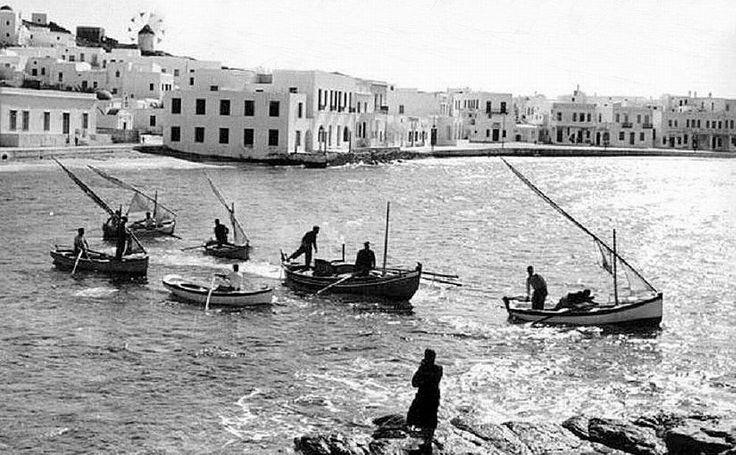 An old photo of Mykonos island, Greece