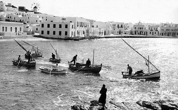 An old photo of Mykonos island, Greece