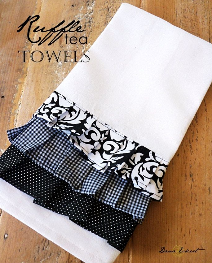 Damask  Black and White Tea Towel. $10.00, via Etsy.
