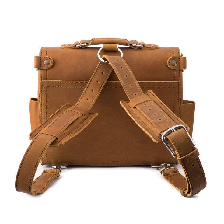 medium leather satchel medium in tobacco leather