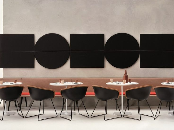 Pannelli decorativi acustici PARENTESIT by Arper design Lievore Altherr Molina