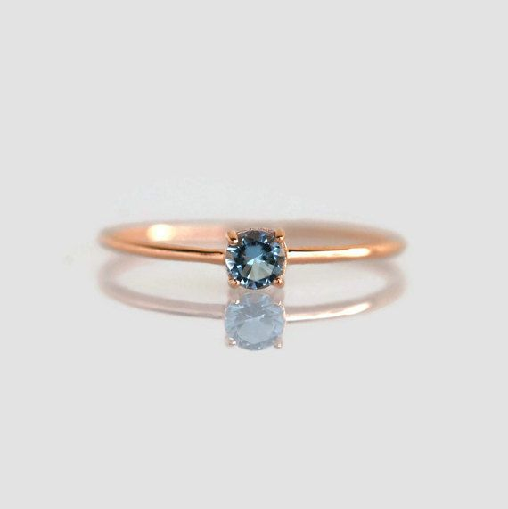 aquamarine ring aquamarine stacking ring natural by StudAndStuff