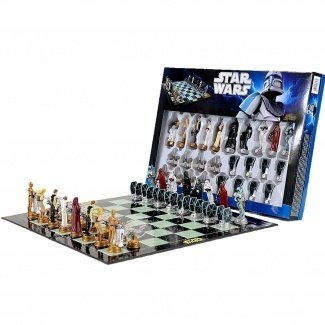 """Matty would love this :)Star Wars Chess Set / Chess Game Board with Star Wars Figurines Chess Pieces (Game Board Size 17"""" x 17"""") - Shop Online for Toys in Australia - Fishpond.com.au"""