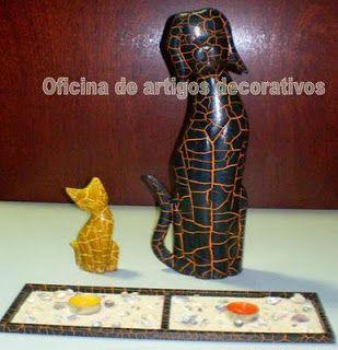 CENAS DA BETA - Miniaturas, caixas, lembranças, quadros, roombox, tecidos, tintas.: Gatos decorativos em madeira