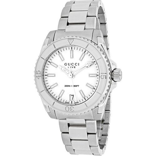 Gucci Watches Womens Dive Watch, Size: 32mm, Silver