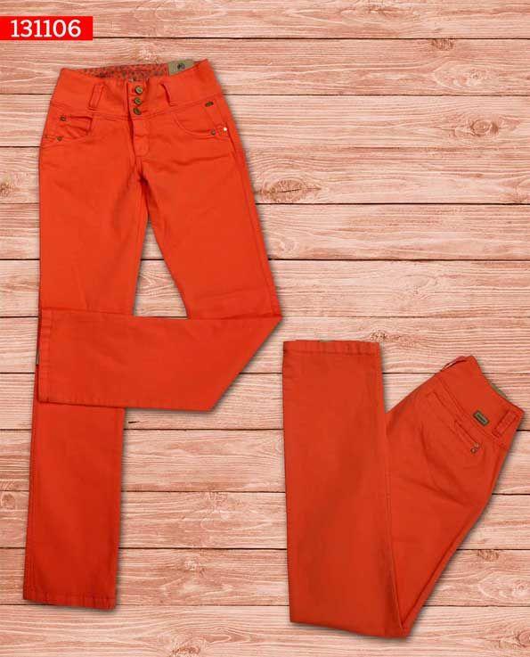 Pantalon-dama-color-naranja-bota-recta-ref-131106- #fashion #women #ropademoda
