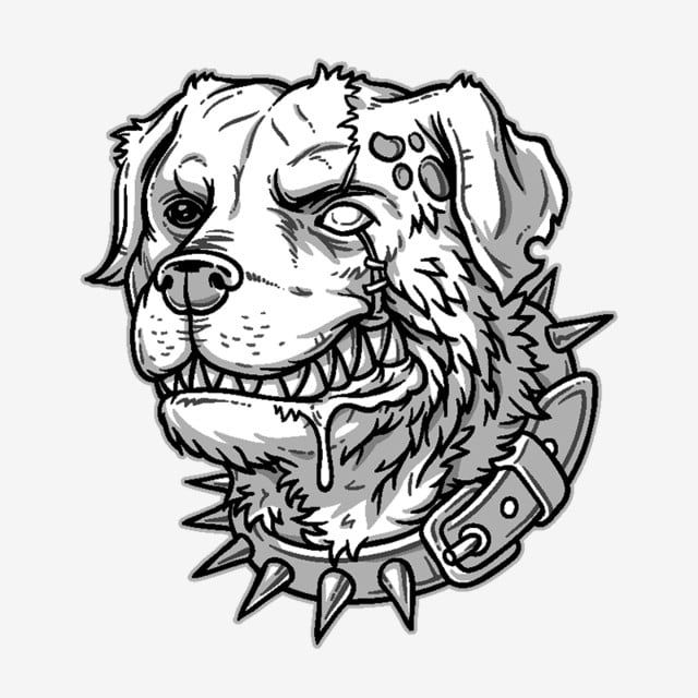 Vector Illustration Of Evil Mad Dog Red Dogs Dog Angry Isolated Png And Vector With Transparent Background For Free Download Dog Vector Dog Face Drawing Dog Tattoo