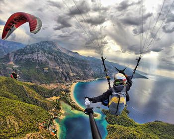 Another day in paradise. Photo by Burak Tuzer paragliding above Ölüdeniz Fethiye in Turkey.