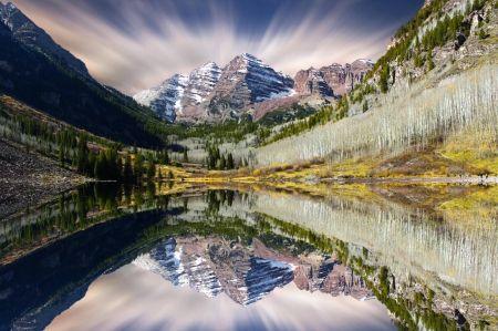 マルーン·ベルズ。アスペン、コロラド州 山地 自然 高解像度で壁紙