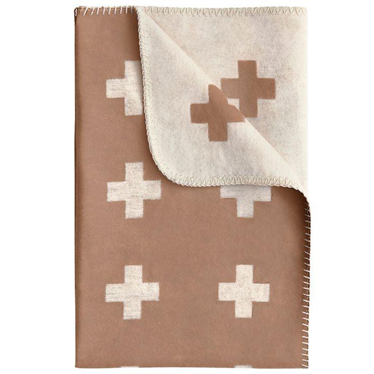 Cross pledd 75x125 cm, brun– Pia Wallén – Kjøp møbler online på Room21.no