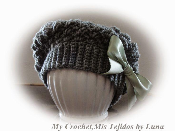Mejores 73 imágenes de Gorros crochet en Pinterest | Gorros crochet ...