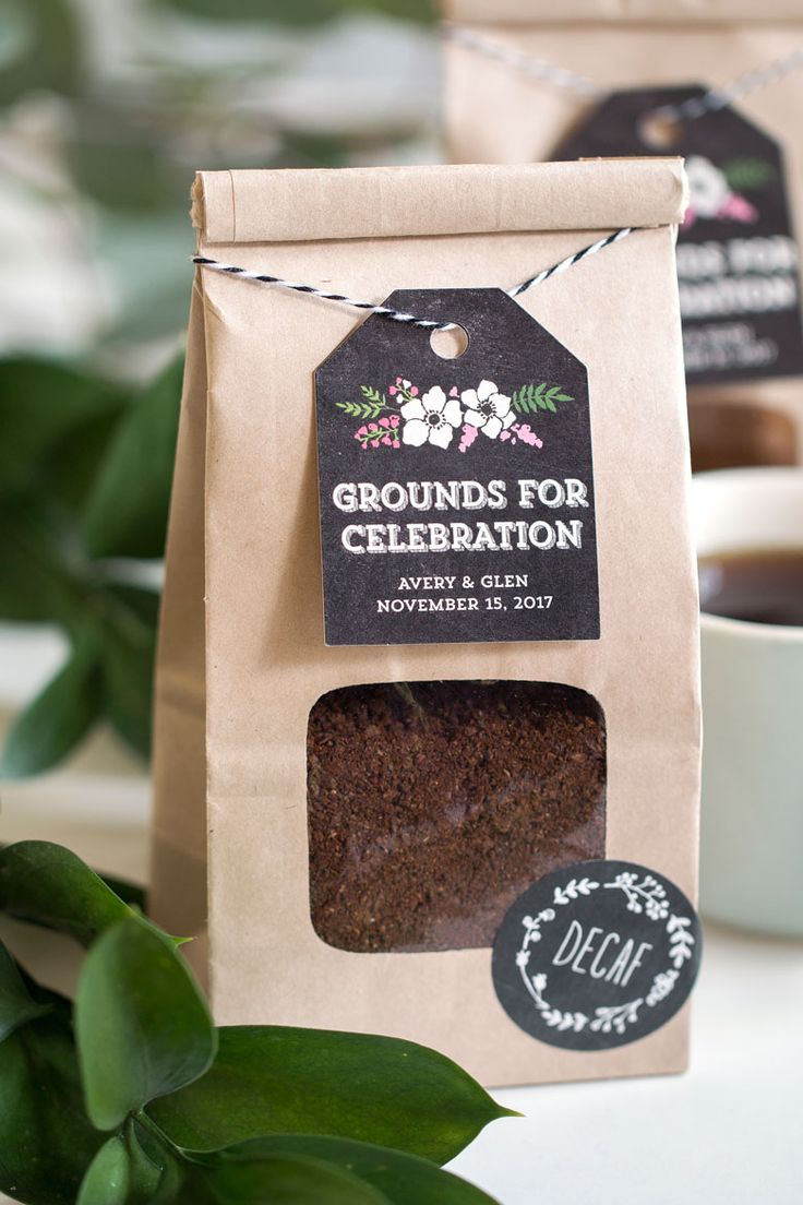 Grounds For Celebration Coffee Wedding Favors