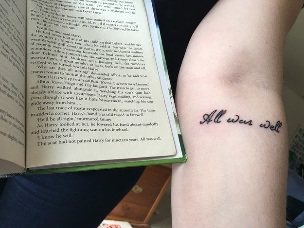 I've always been the biggest Harry Potter fan ~Literary Tattoos That Are Borderline Genius