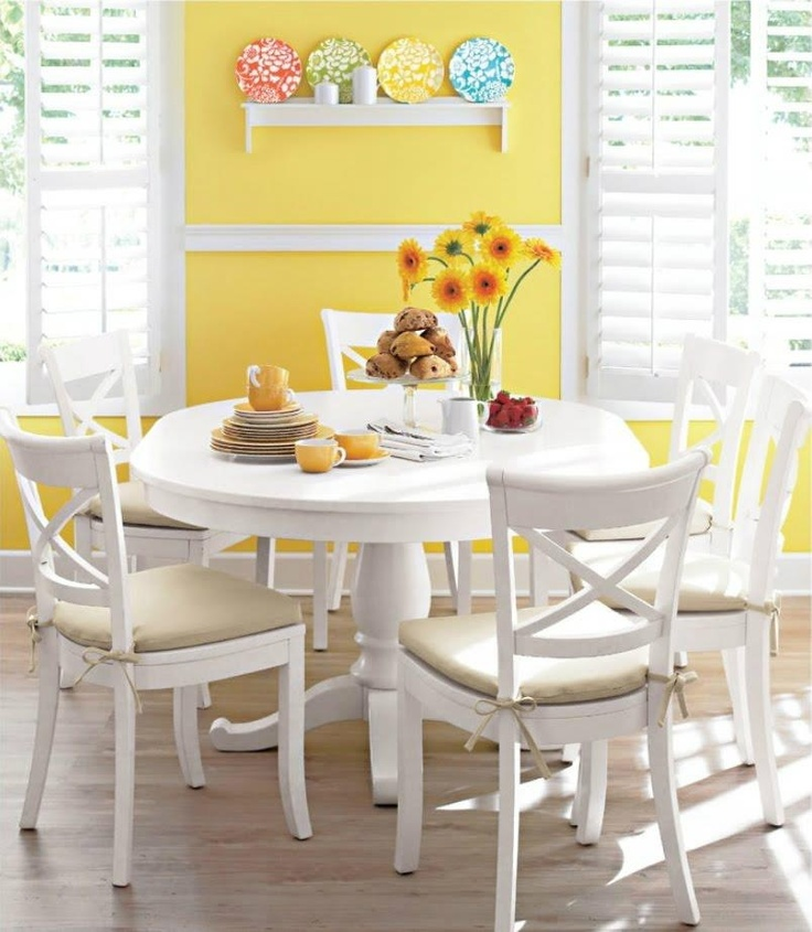 yellow & white & diningroom