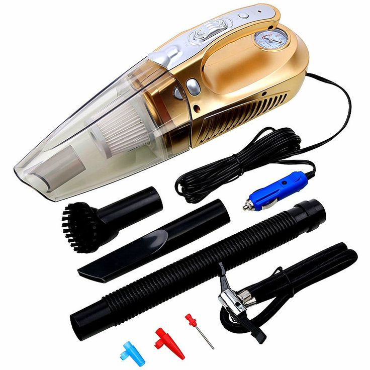 Car Vacuum Cleaner, Besteamer Portable Handheld Auto Vacuum Cleaner Auto Lightweight Cleaner for Car 12V 100W Wet & Dry Auto Vac, gold (Update Version)
