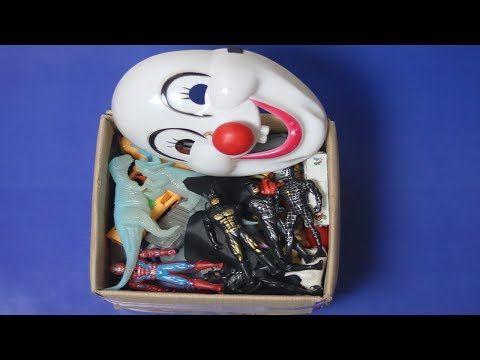 Box of toys! Marvel Mashers,Cars,Jurassic world toys,Action figures Mine...