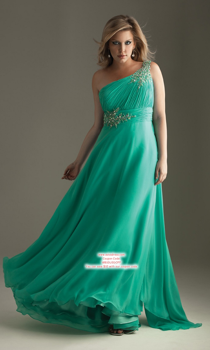 2013 plus size prom dresses fashion trend seeker - A Line One Shoulder Floor Length Chiffon Plus Size Evening Dress Prom Dresses Cheap 00201003