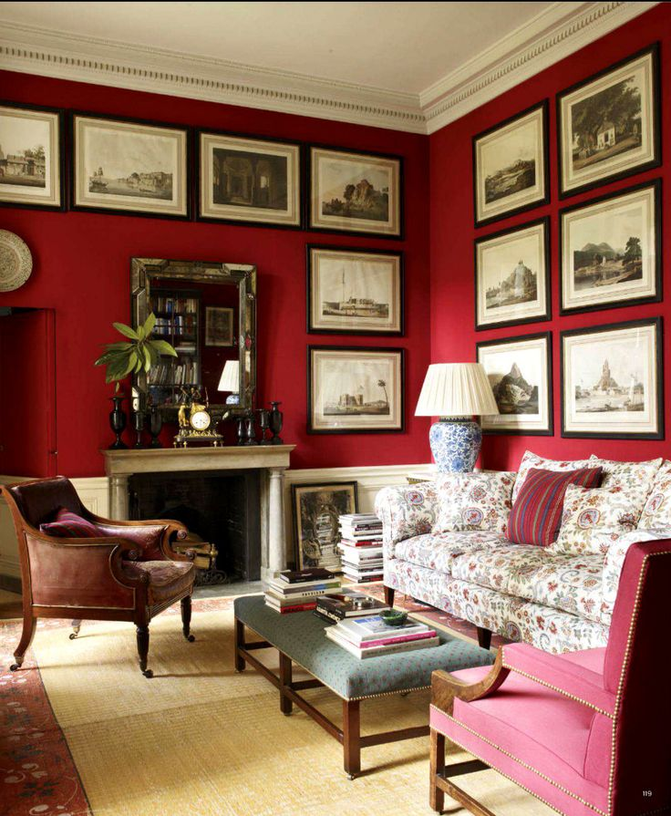 Red Living Room: 17 Best Images About Color Schemes Cherry Red From The