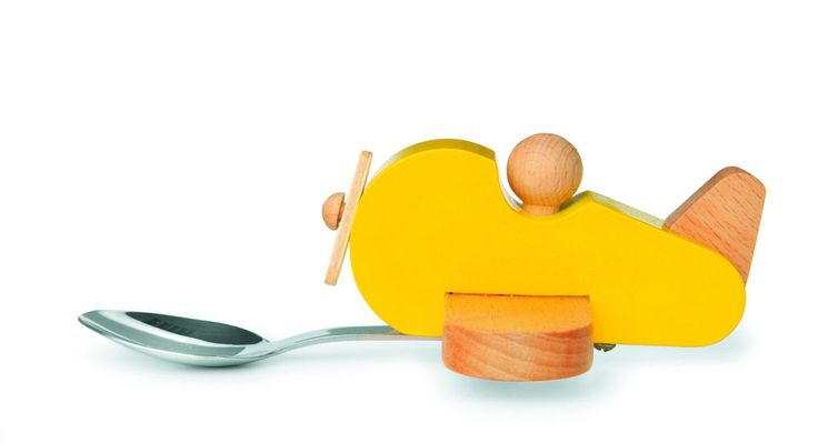 Kinderlöffel Knatter Flugzeug Donkey Products Löffel Holzlöffel Kinder Besteck #ebay
