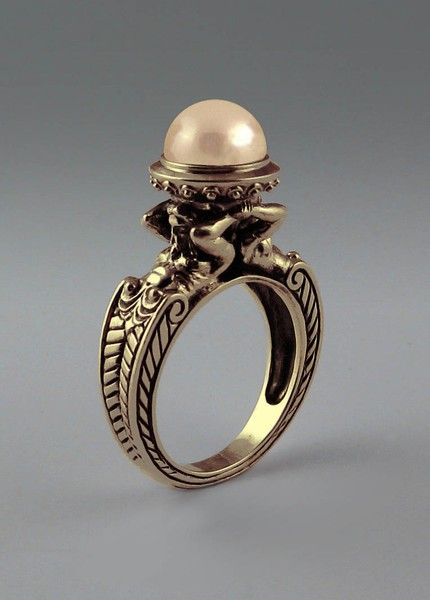 This is a handmade ring by jewelry designer Zergey Zhiboedov The inspiration for this antique