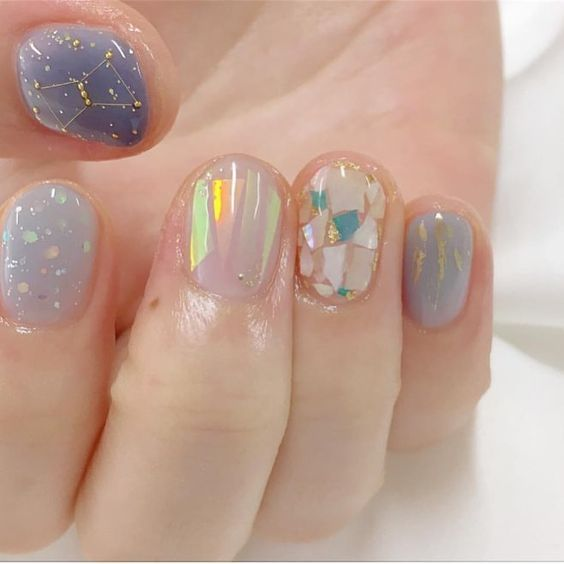 17 Korean Minimalist Simple Nail Art Designs 2018
