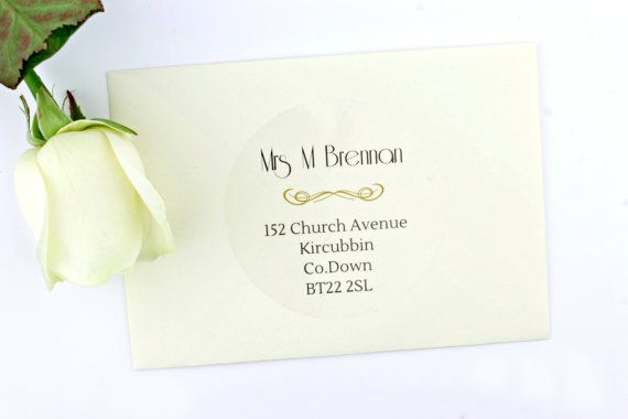 Wedding envelope address labels • return and guest addressing • personalised transparent clear addressing stickers • modern invitation