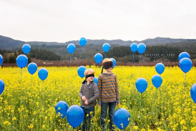 Red Headed Brothers Sibling Gender Reveal | Justine Di Fede Photography